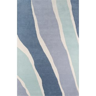 Best Reviews Sorbet Hand-Tufted Blue Area Rug by Novogratz By Momeni