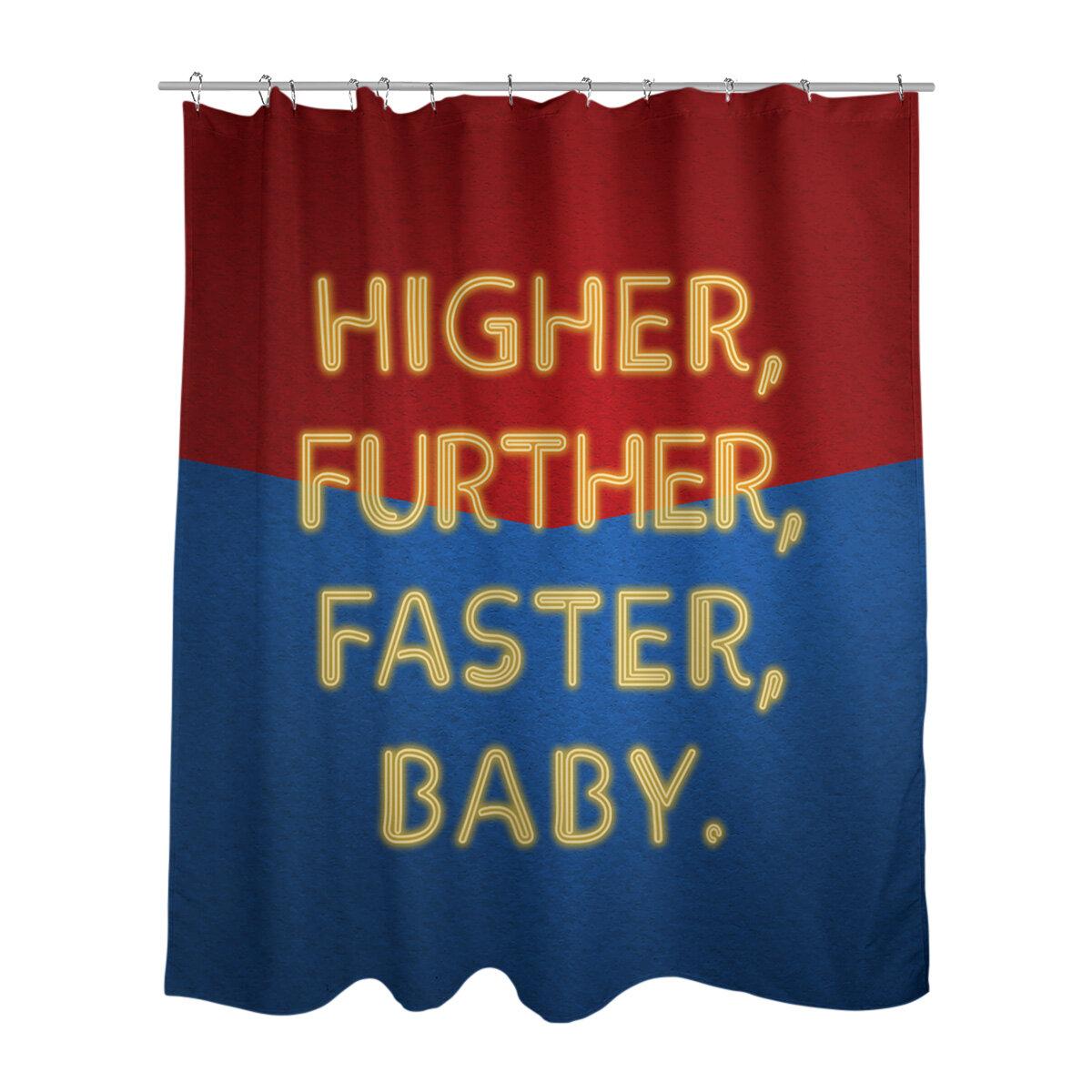 East Urban Home Woman Power Hero Quote Single Shower Curtain Wayfair