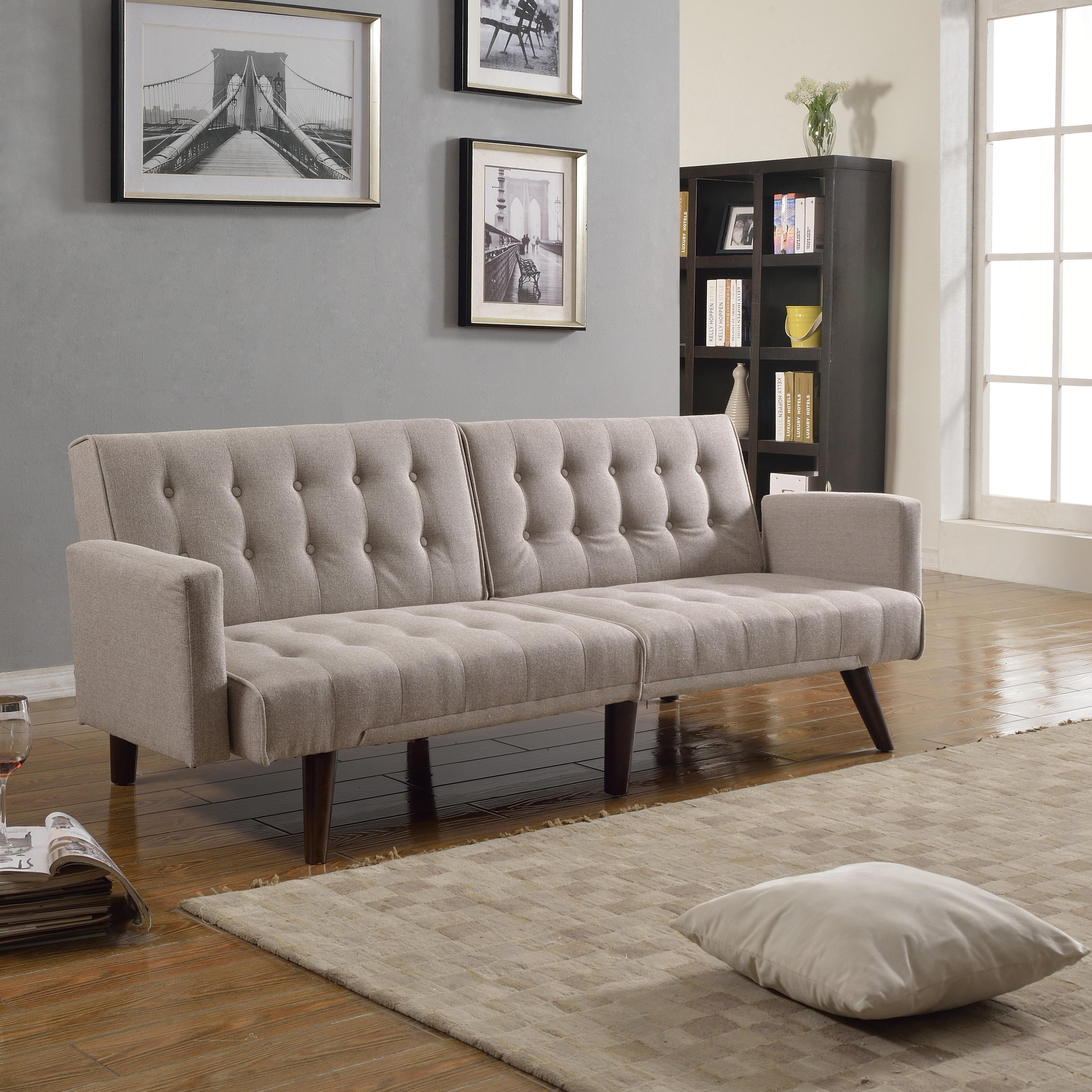 Langley Street Kaylynn Mid Century Convertible Sofa & Reviews | Wayfair