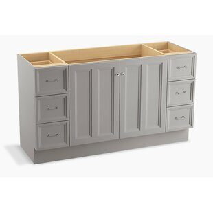 Damask? 60 Vanity with Toe Kick, 2 Doors and 6 Drawers by Kohler
