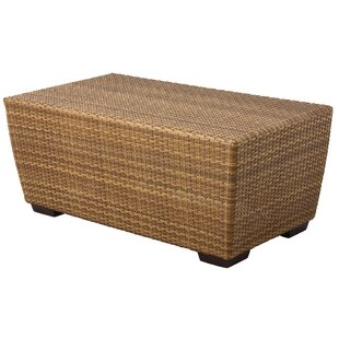 Saddleback Rectangular Cocktail Wicker Coffee Table