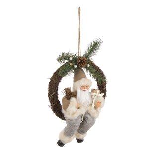 Nikolaus Santa 29cm Plastic Wreath (Set Of 2) By The Seasonal Aisle