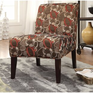 Ebern Designs Giangregorio Stylish Fabric Print Slipper Chair