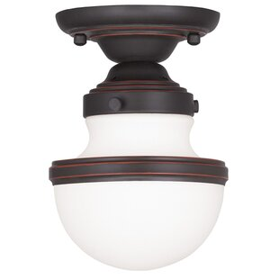 Myers 1-Light Semi Flush Mount by Andover Mills