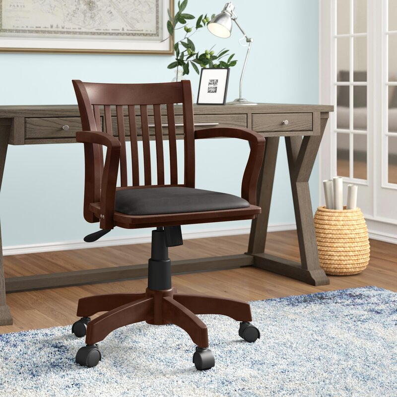 Three Posts Genevieve Mid Back Deluxe Bankers Chair Reviews Wayfair
