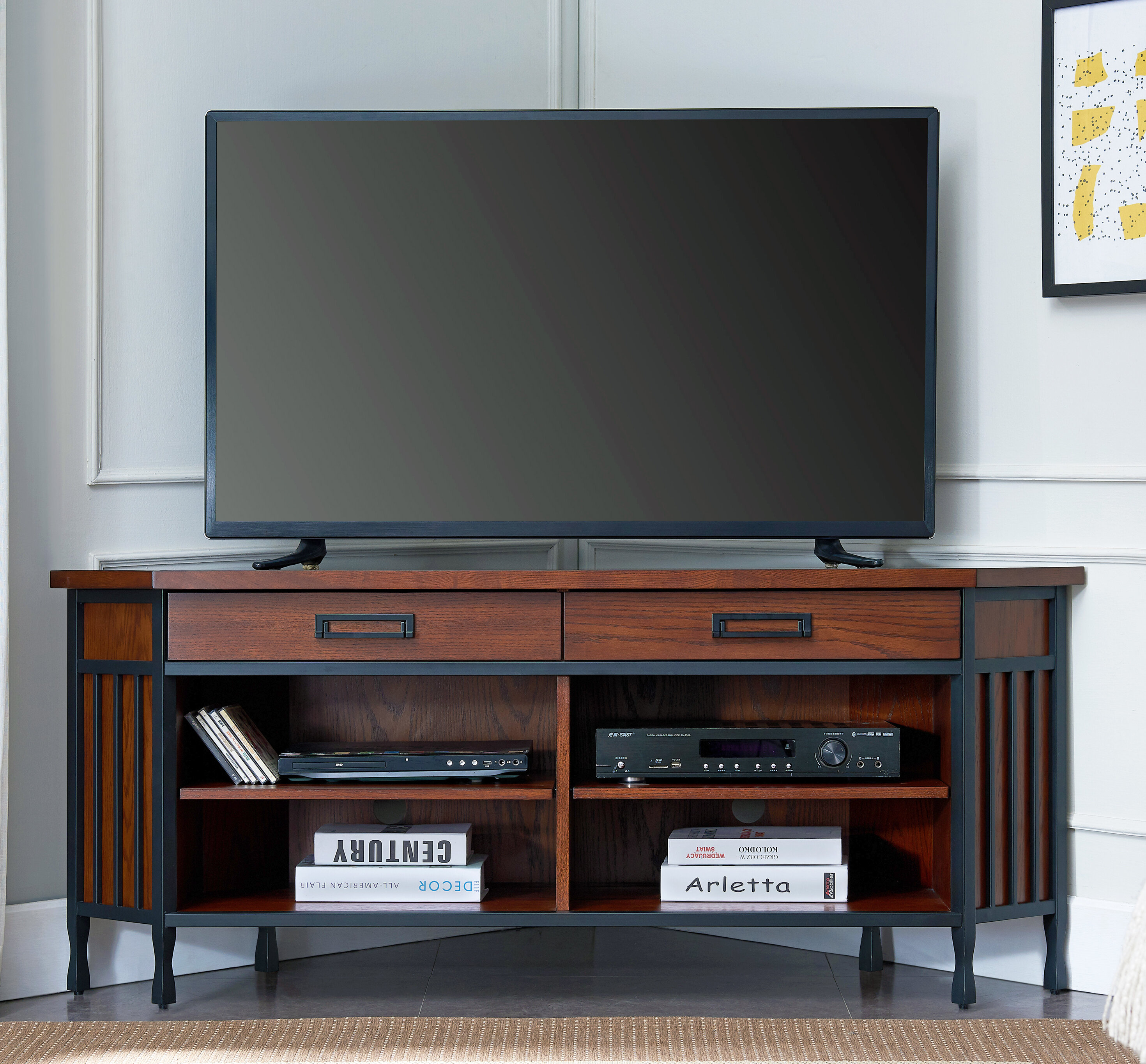 Picture of: Alcott Hill Perao Tv Stand For Tvs Up To 65 Reviews Wayfair