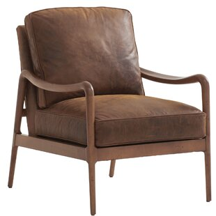 Leblanc Leather Chair by Barclay Butera