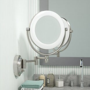 Affordable Price Hansa Glam Surround Light Makeup Wall Mirror By Three Posts