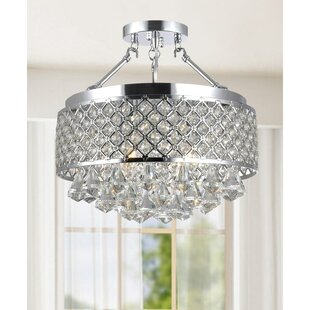 Mckelvy 4-Light Semi Flush Mou..