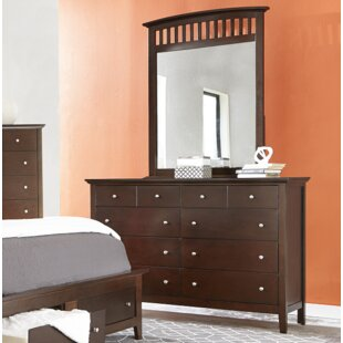 Hallberg 8 Drawer Double Dresser with Mirror by Red Barrel Studio