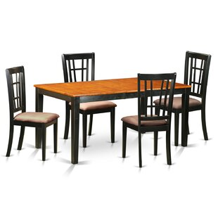 Pillar 5 Piece Dining Set by August Grove