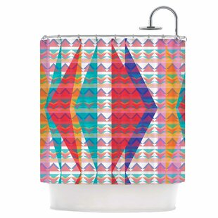 Triangle Illusion Single Shower Curtain