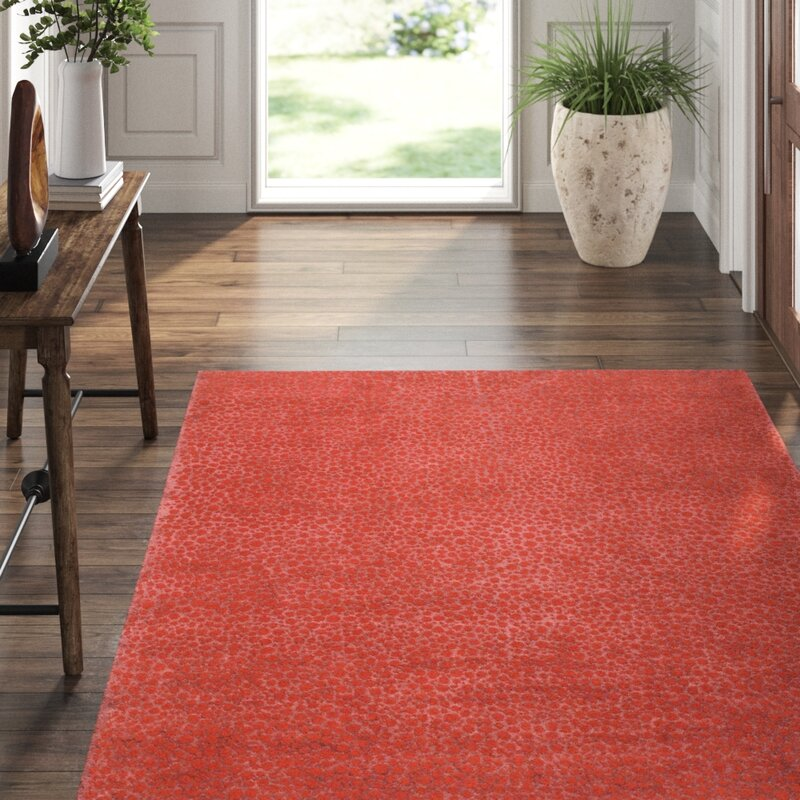 Tufenkian Animal Print Hand Knotted Wool Silk Red Area Rug Perigold