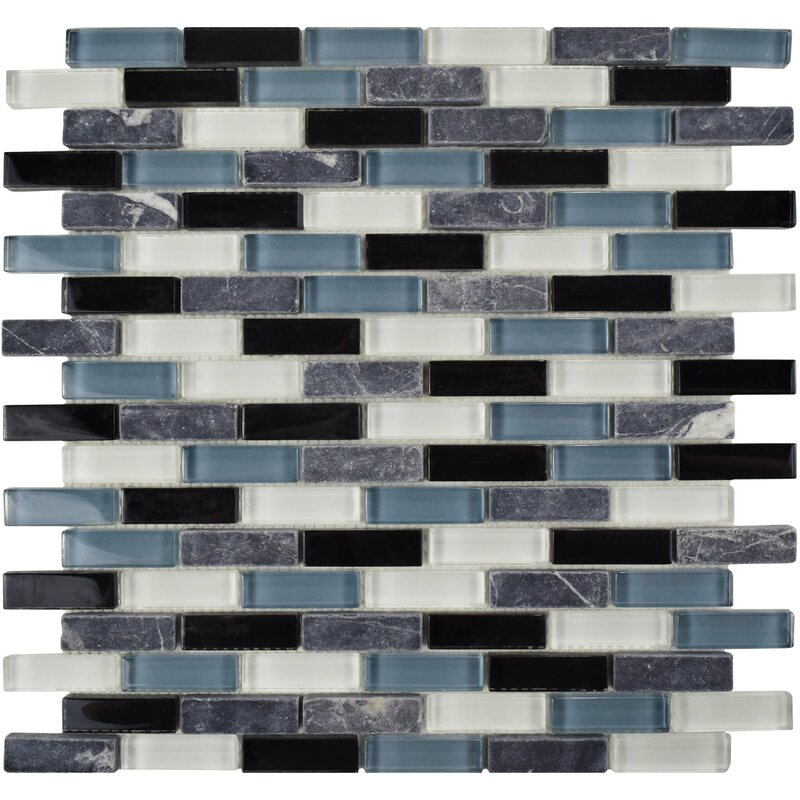 Elitetile Sierra 0 58 X 1 88 Glass Natural Stone Mosaic Tile Reviews Wayfair