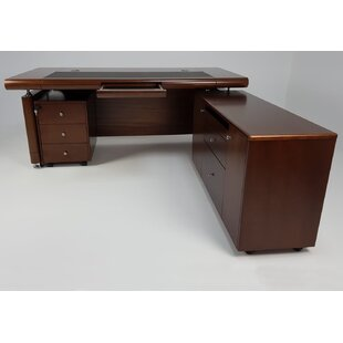Harkness L-Shape Executive Desk By Ophelia & Co.