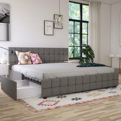 Elizabeth Upholstered Platform Bed with Storage CosmoLiving by Cosmopolitan Size: King