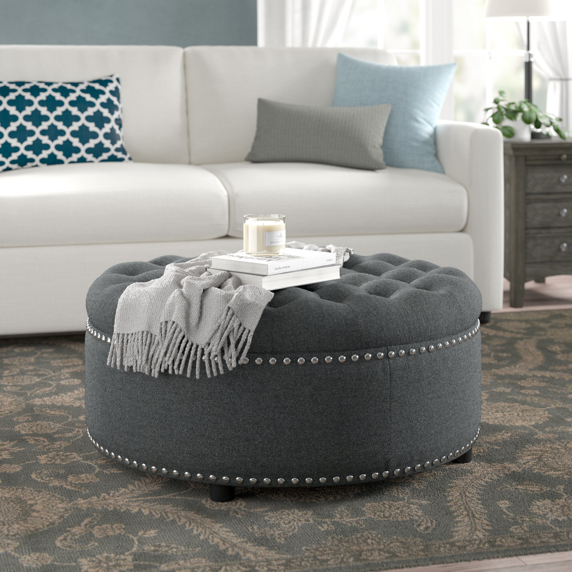 Groovy Camas Tufted Storage Ottoman Alphanode Cool Chair Designs And Ideas Alphanodeonline