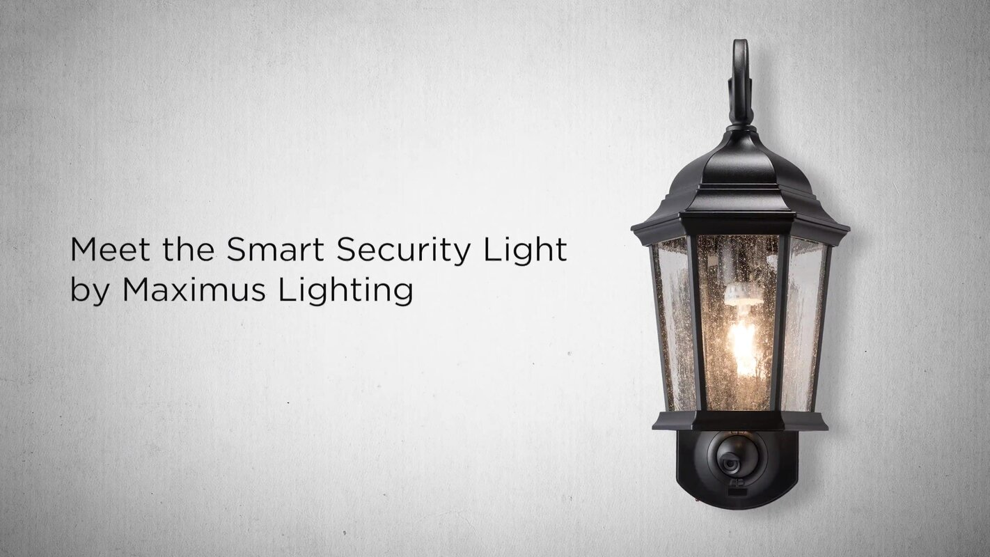 Outdoor Security Light With Camera Maximus smart security with camera 1 light outdoor wall lantern smart security with camera 1 light outdoor wall lantern workwithnaturefo