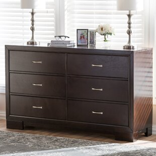 Millbrook Wood 6 Drawer Double Dresser