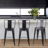 Mccurry Middle Back 24 Bar Stool (Set of 4) by Wrought Studio™