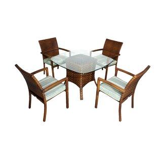 Hardage 5 Piece Dining Set with Cushions ..
