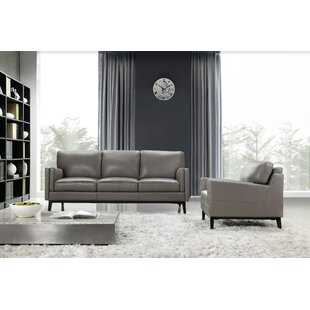 Shop Lanoue Leather Sofa by Brayden Studio