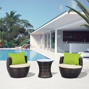 Yolanda 2 Seater Rattan Conversation Set By Zipcode Design