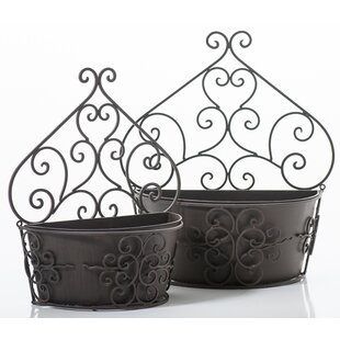 2 Piece Metal Wall Planter Set By Brambly Cottage