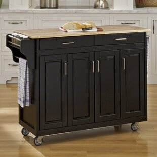 Stroman Kitchen Island with Natural Wood August Grove
