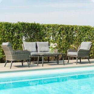 Blaize 4 Seater Rattan Sofa Set By Sol 72 Outdoor