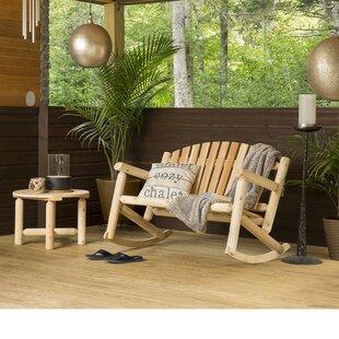 Hooper 2 Piece Settee Rocker and Coffee Table Set by Loon Peak
