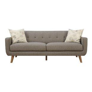 Gaven Mid Century Modern Sofa U0026 Pillow Set