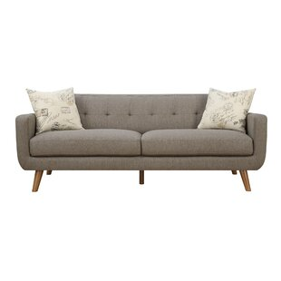 Mid Century Modern Sofa & Pillow Set