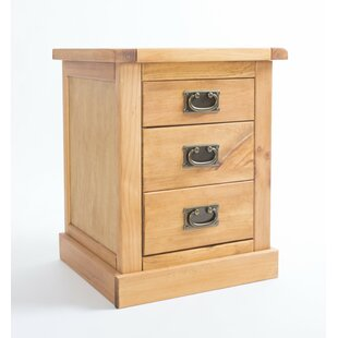 Archie 3 Drawer Bedside Table By August Grove