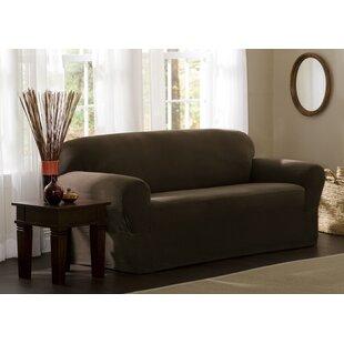 Box Cushion Sofa Slipcover by Three Posts