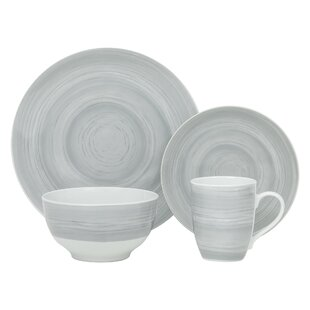 Ballston Stone 16 Piece Dinnerware Set, Service for 4