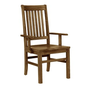 Rader Roll Top Solid Wood Dining Chair (Set of 2)