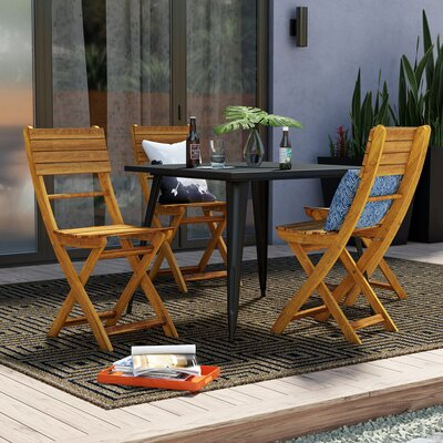 Remarkable Zipcode Design Carthage Folding Patio Dining Chair Finish Customarchery Wood Chair Design Ideas Customarcherynet