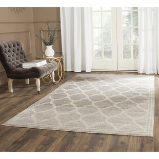 Maritza Power Loomed Light Gray/Ivory Indoor/Outdoor Area Rug