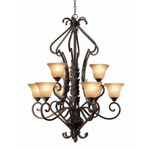 Astoria Grand Weitzman 9-Light Shaded Chandelier
