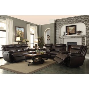 Hughes Reclining Configurable Living Room Set Red Barrel Studio