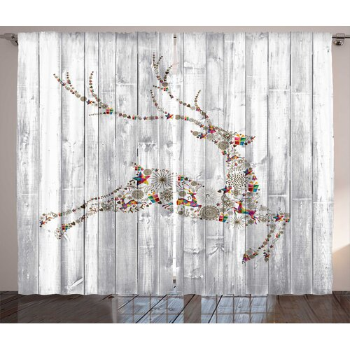 Deer Pencil Pleat Blackout Thermal Curtains East Urban Home