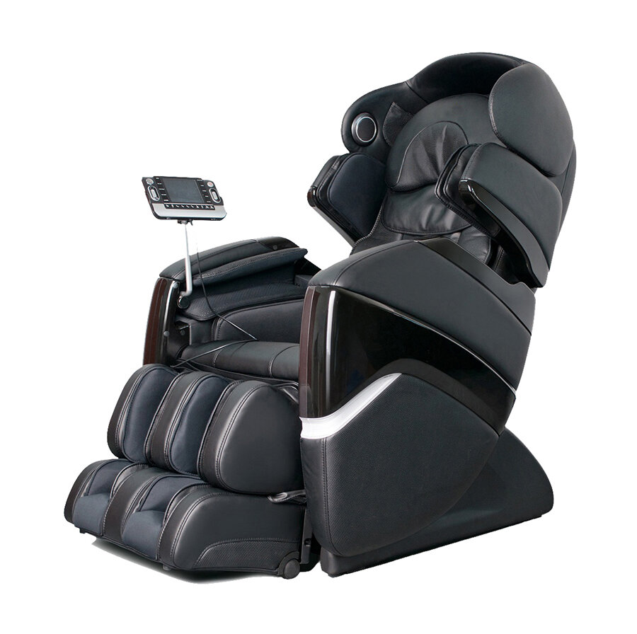 OS 3D Faux Leather Pro Cyber Reclining Adjustable Width Heated Massage Chair
