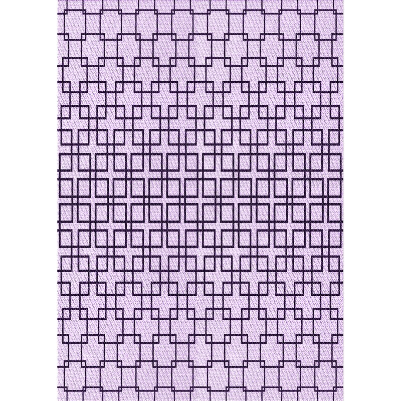 East Urban Home Geometric Wool Purple Black Area Rug Wayfair