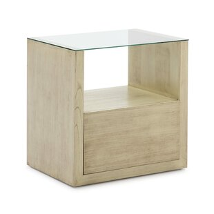 Hersey 1 Drawer Bedside Table By Ebern Designs
