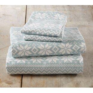Loon Peak Cloran Super Soft Printed Flannel Cotton Sheet Set