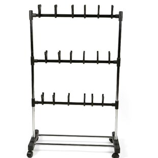 Affordable 18 Pair Rolling Shoe Rack By Mind Reader