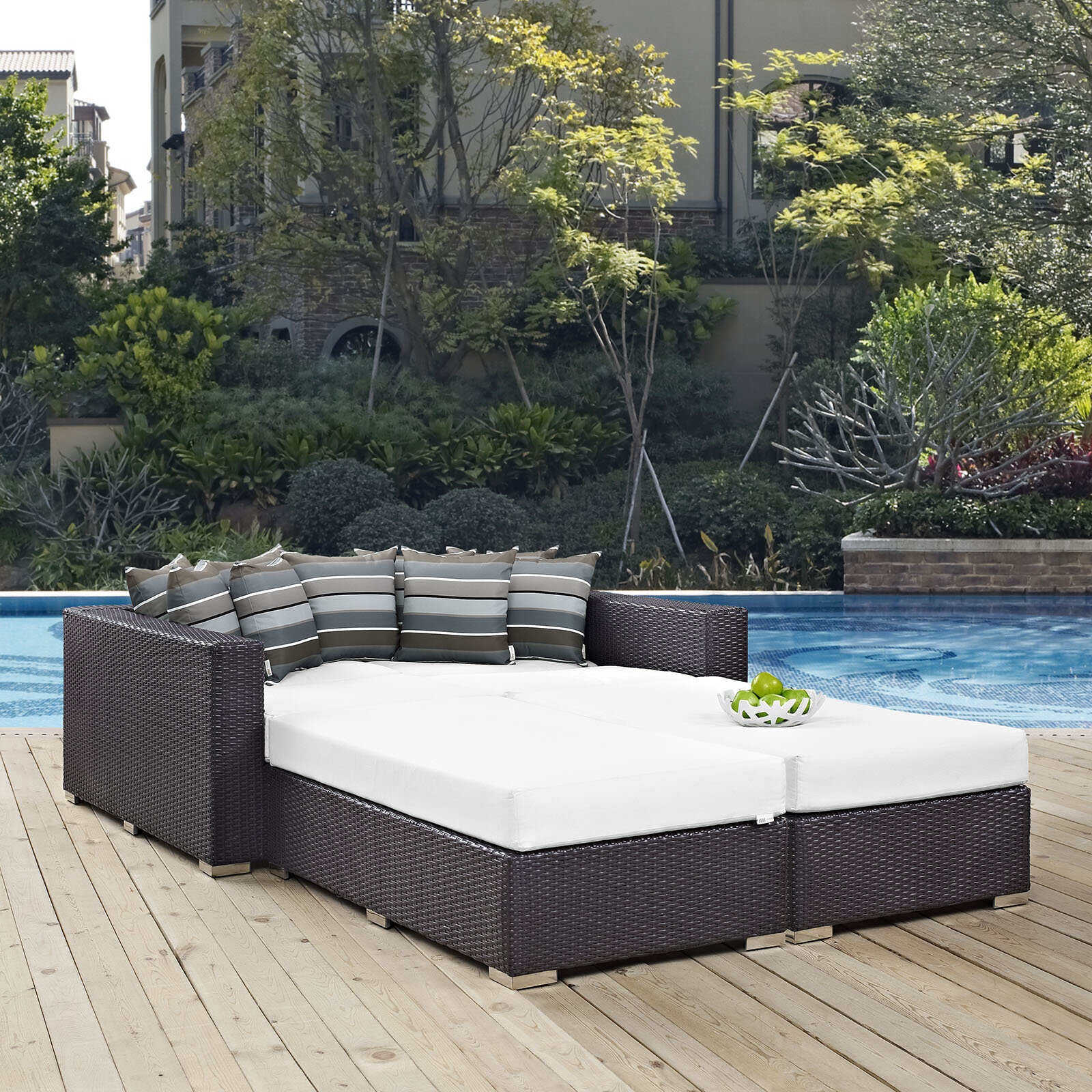 Latitude Run Ryele 4 Piece Patio Daybed with Cushions & Reviews