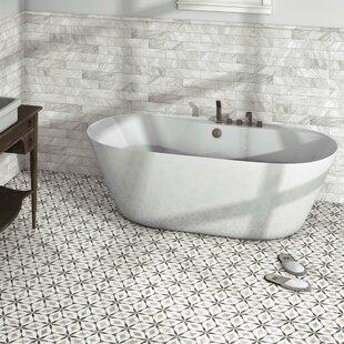 "Karra Hexagon 7"" x 8"" Porcelain Field Tile"