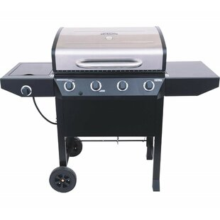 Thermos 4-Burner Flat Top Propane Gas Grill With Side Burner By Char-Broil